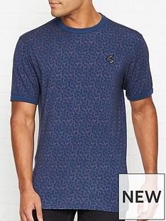 vivienne-westwood-floral-print-orb-logo-t-shirtnbsp--blue