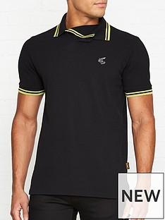 vivienne-westwood-squiggle-orb-logo-polo-shirt-black