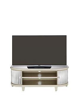 Venetian 2 Door Curved Glass Tv Unit - Fits Up To 50 Inch Tv