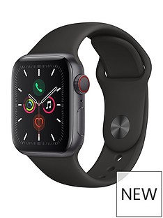 Apple Apple Watch Series 5 (GPS + Cellular), 40mm Space Grey Aluminium Case with Black Sport Band