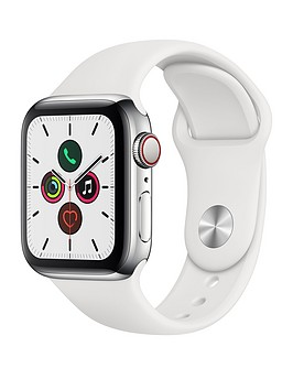 apple-watch-series-5-gps-cellularnbsp40mm-stainless-steel-case-with-white-sport-band