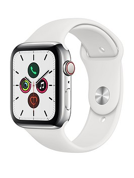 apple-watch-series-5-gps-cellular-44mm-stainless-steel-case-with-white-sport-band