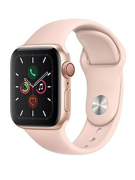 Apple Watch Series 5 (Gps + Cellular), 40Mm Gold Aluminium Case With Pink Sand Sport Band