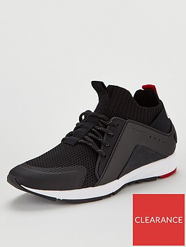 hugo-hybrid-leather-and-neoprene-lace-up-trainers-black
