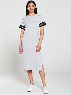 hugo-naepe-logo-t-shirt-dress-grey