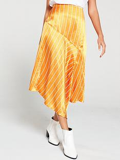 hugo-rolina-pin-stripe-skirt-orange
