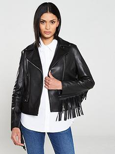 hugo-lemira-leather-fringe-biker-jacket-black