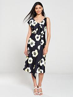 hugo-kami-floral-print-ruffle-dress-navy
