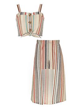 river-island-girls-stripe-crop-top-and-skort-outfit-pink