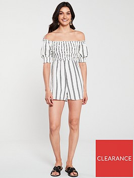 river-island-shirred-playsuit-white