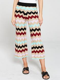 3f3d0487883f57 River Island River Island Chevron Print Knitted Trousers