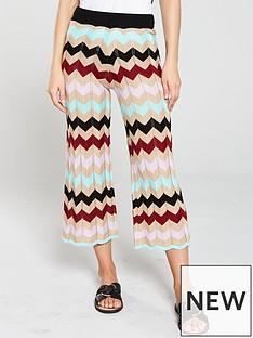 82e97b4b29 River Island River Island Chevron Print Knitted Trousers