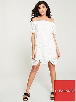 river-island-lace-bardot-dress-white