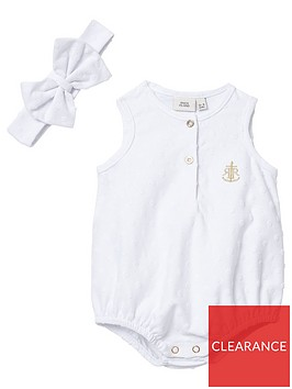 river-island-baby-baby-textured-romper-with-headband-white