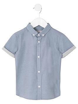 river-island-mini-mini-boys-ri-short-sleeve-shirt-blue