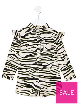 river-island-mini-mini-girls-zebra-playsuit-pink