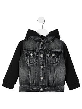 river-island-mini-mini-boys-hooded-denim-jacket-grey