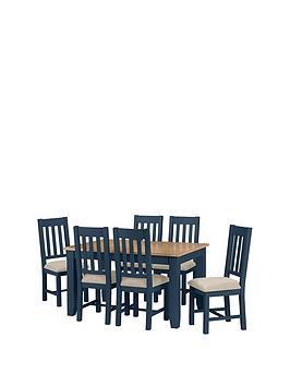 julian-bowen-richmond-140-180-cm-extending-oak-dining-table-6-chairs-midnight-blue
