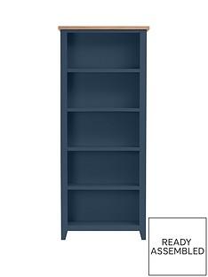 julian-bowen-richmond-ready-assembled-bookcase-midnight-blue
