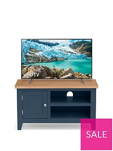 Julian Bowen Richmond ready Assembled TV Unit - fits up to 38 inch TV - Midnight Blue