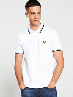 lyle-scott-short-sleeved-polo-shirt-white