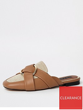river-island-backless-loafer-tan