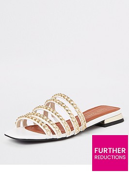 river-island-river-island-multi-strap-chain-sandals-gold