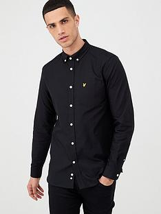 lyle-scott-oxford-shirt-black