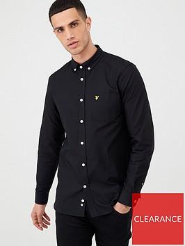 lyle-scott-oxford-shirt-black