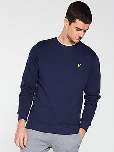 lyle-scott-crew-neck-sweatshirt-navy