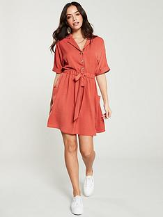 v-by-very-tie-waist-utility-dress-rose