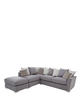 Links Left Hand Corner Chaise Scatter Back Sofa With Footstool And Sofa Bed