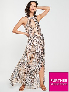 river-island-river-island-animal-print-embellished-beach-dress
