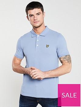 lyle-scott-short-sleeved-plain-polo-shirt-lavender-blue