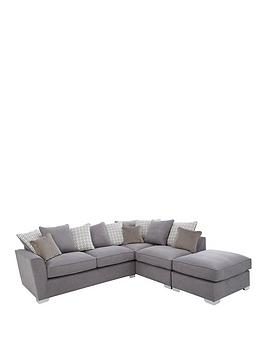 Links Right Hand Corner Chaise Scatter Back Sofa With Footstool And Sofa Bed