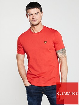 lyle-scott-plain-t-shirt-red