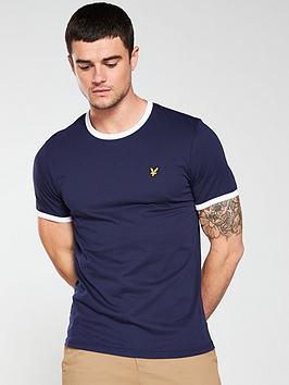 lyle-scott-ringer-t-shirt-navy