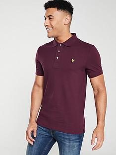lyle-scott-plain-polo-shirt-burgundy