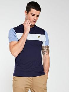 lyle-scott-lyle-amp-scott-panel-t-shirt-navy