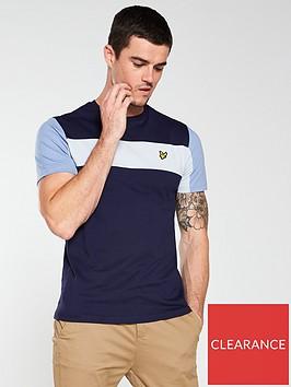 lyle-scott-lyle-amp-scott-panel-t-shirt-navy