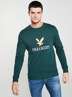 lyle-scott-logo-sweatshirt-forest-green