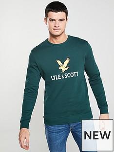 lyle-scott-logo-sweatshirt-forest-green