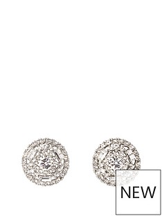 d1f8df64b52 River Island River Island Diamante Stud Earrings - Silver