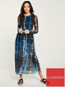 v-by-very-mesh-tie-die-midi-dress-multi