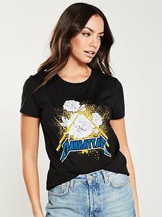 f2c0b1835f5 V by Very Manhattan Rock T-Shirt - Black