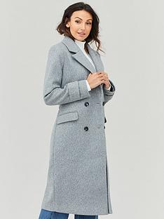 michelle-keegan-double-breasted-longline-coat-grey
