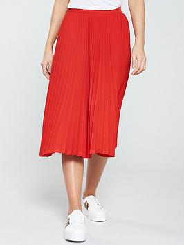 v-by-very-pleated-midi-skirt-red