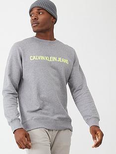 calvin-klein-jeans-neon-logo-crew-neck-sweatshirt-grey-marl