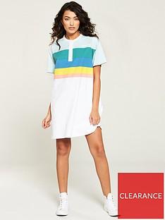 wrangler-rainbow-polo-dress-white
