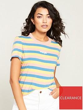 wrangler-rainbow-stripe-t-shirt-with-rib-neck-pink